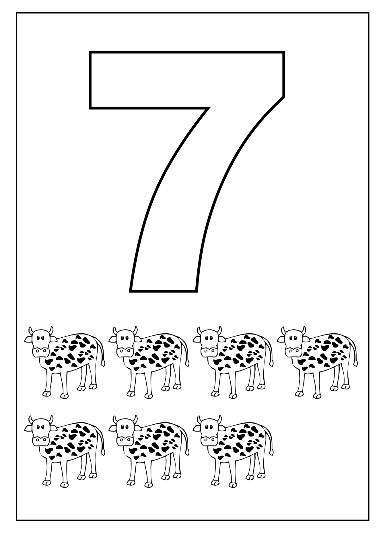 Number 7 Seven Worksheet