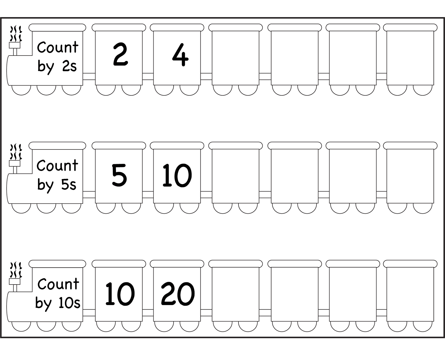 5 Skip Counting Worksheet