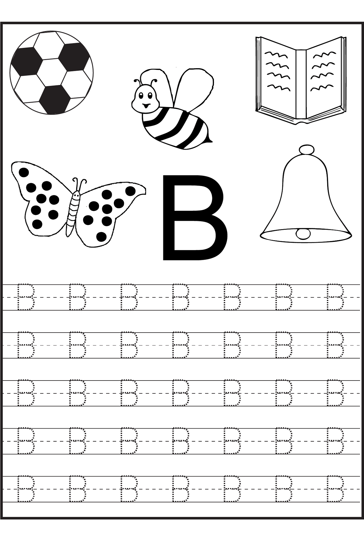 Printables Of Tracing Letter B