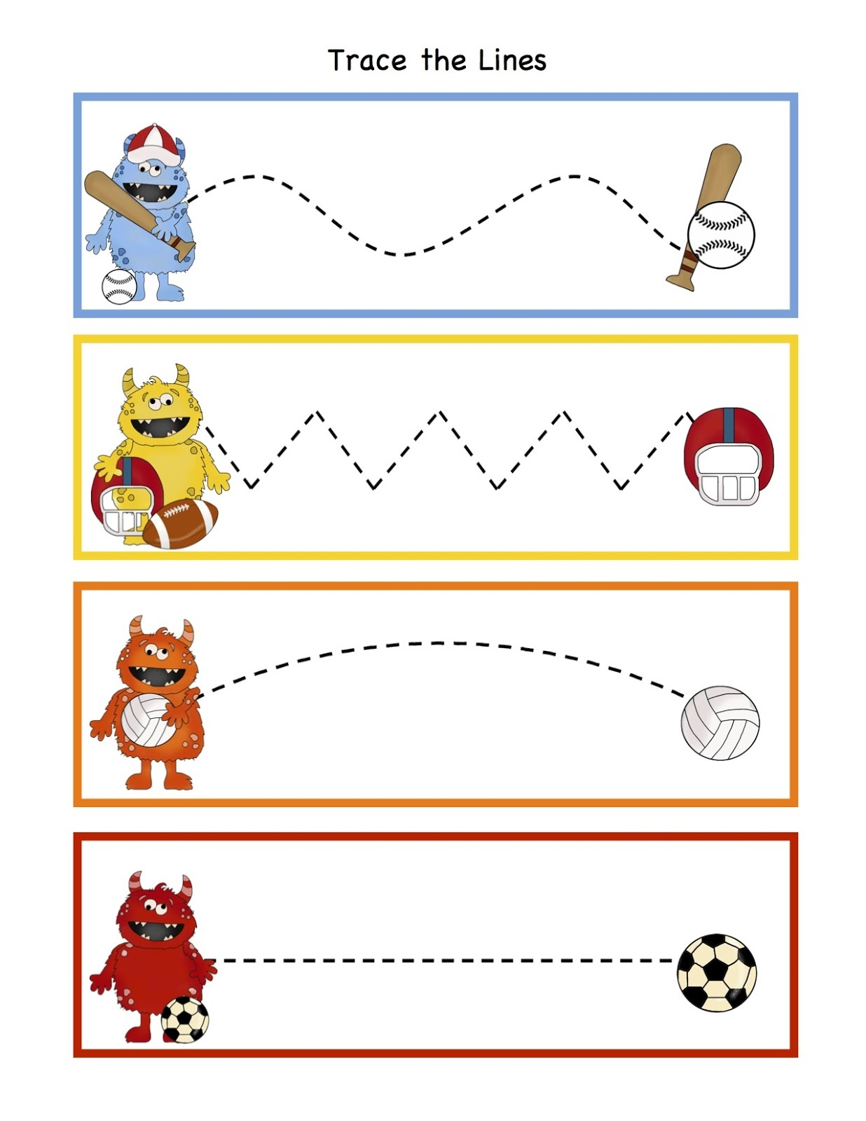 Sport Worksheets For Kids