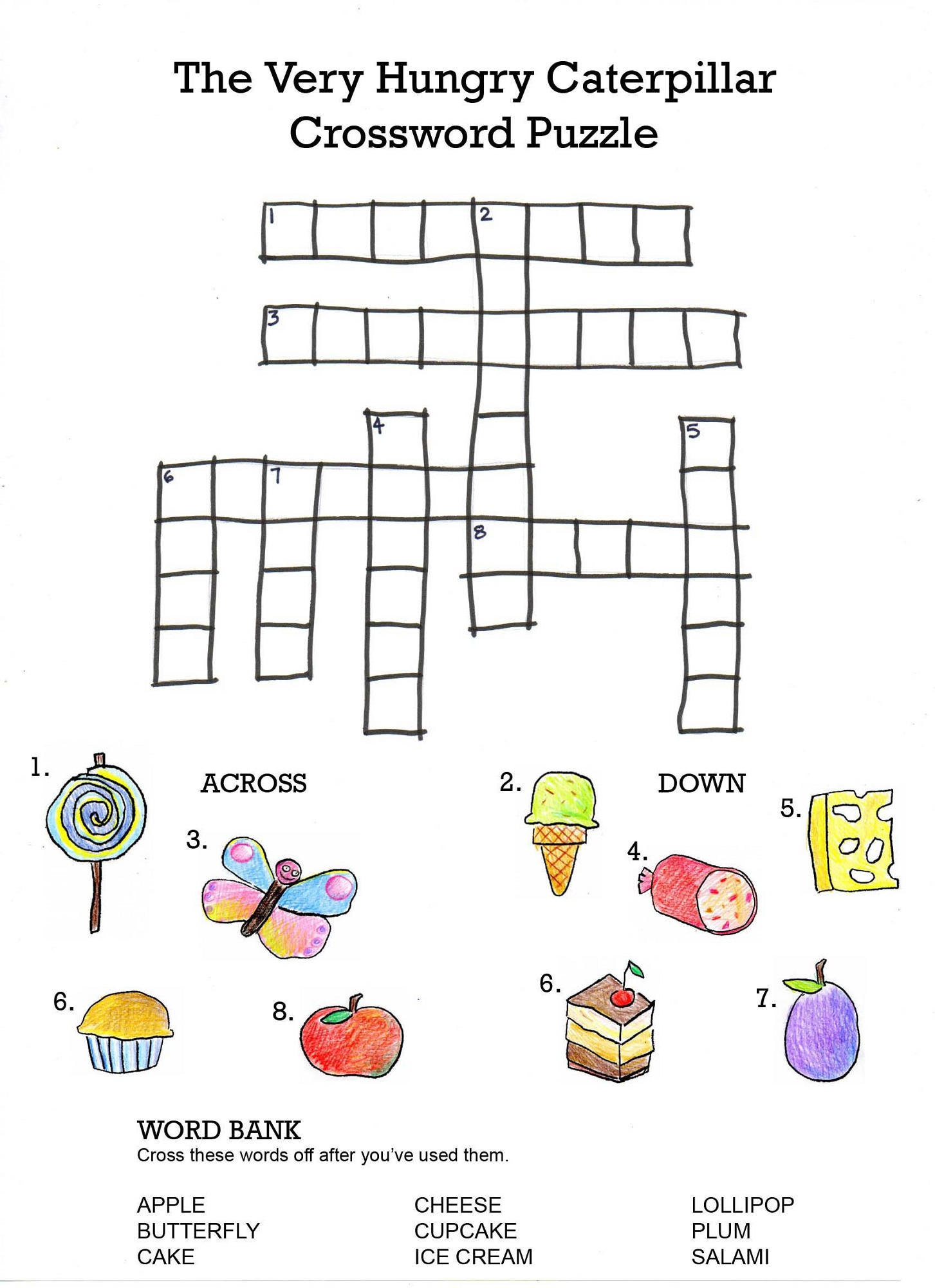 Printable Crosswords Puzzles Kids