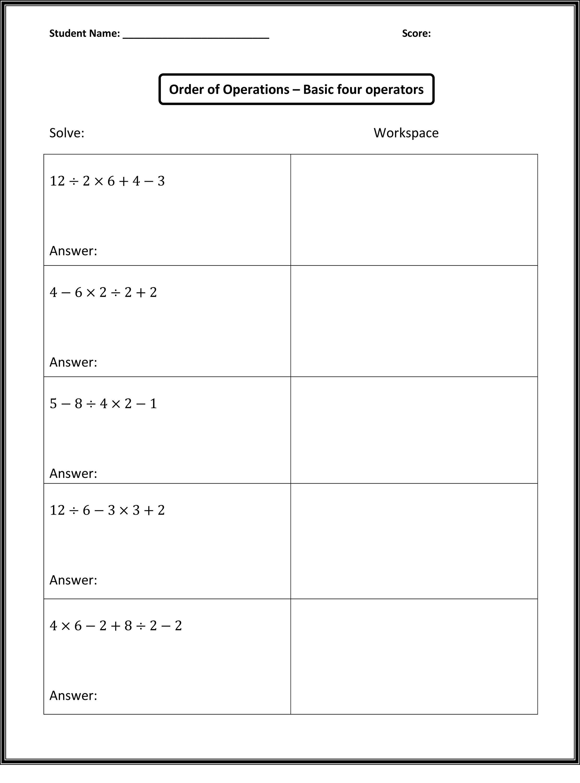 Free Fun Math Worksheets