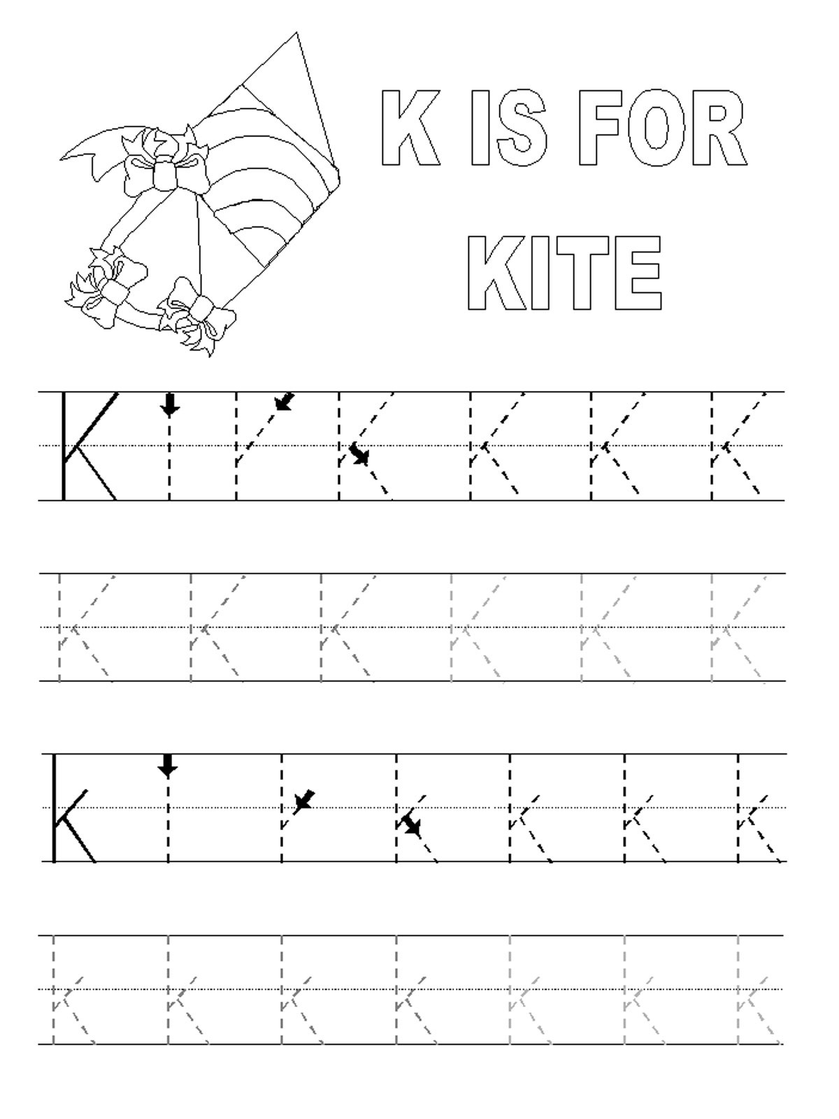 Trace The Alphabets Worksheets