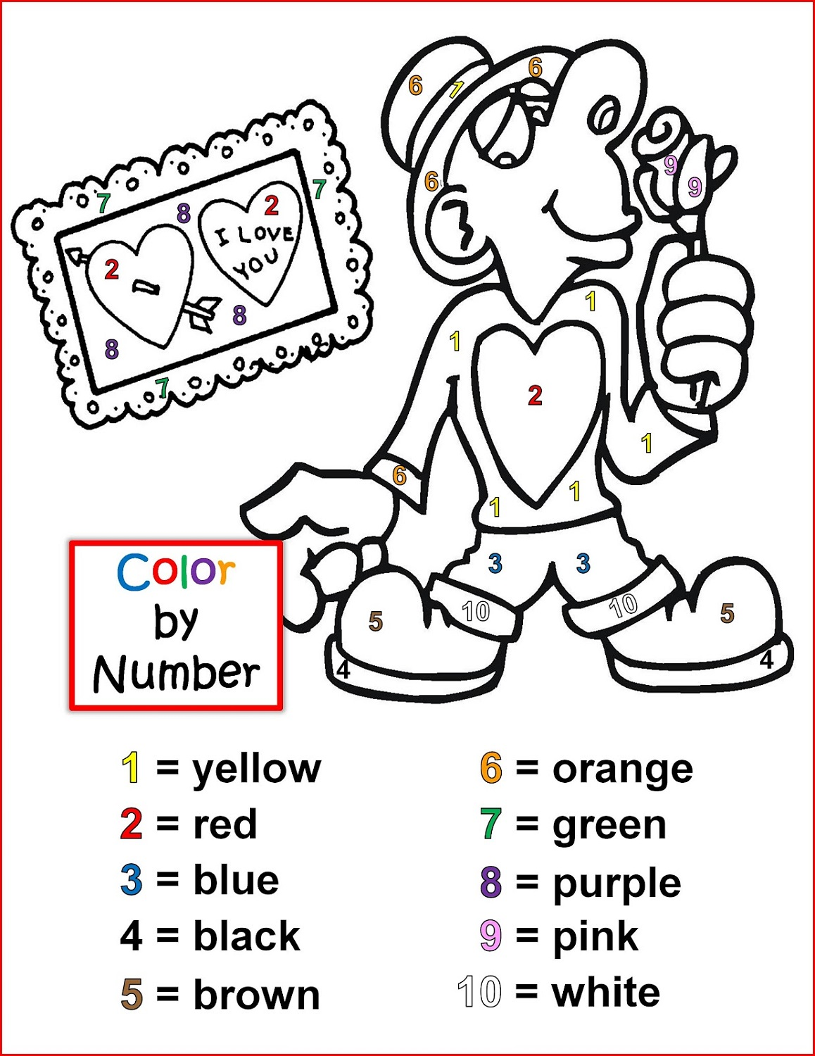 Free Color By Numbers Worksheets