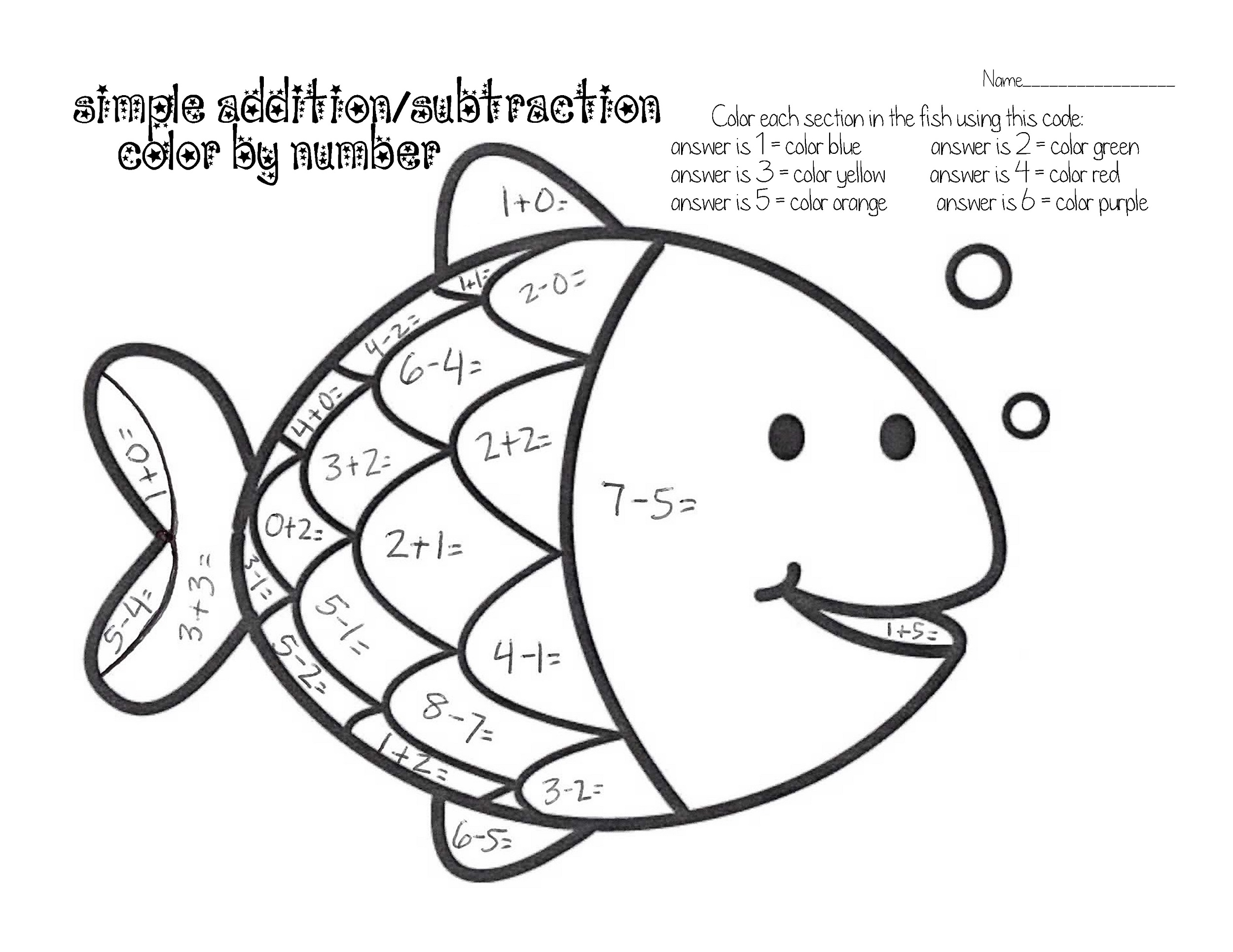 Free Color By Number Worksheets Printable
