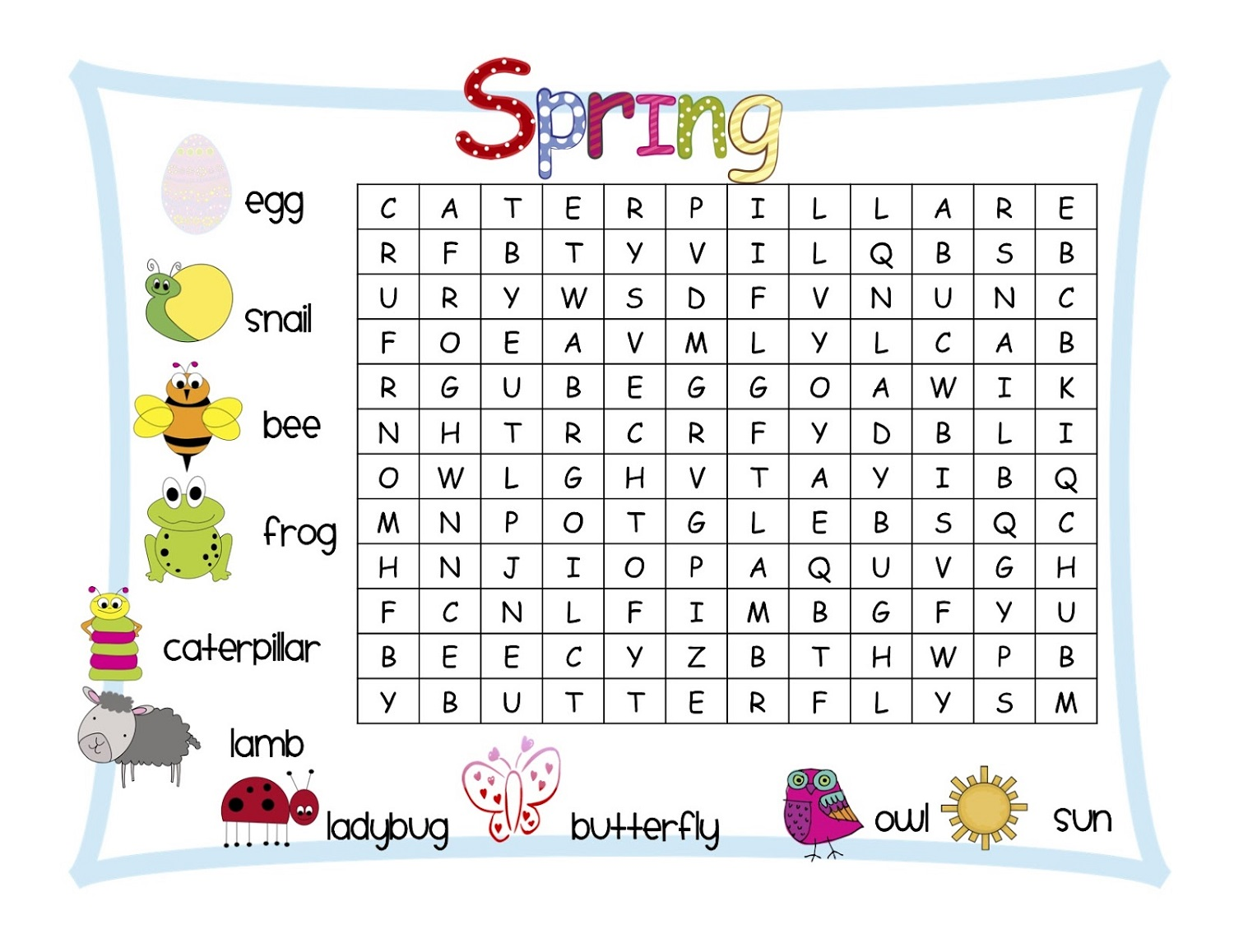 Easy Word Searches For Kids
