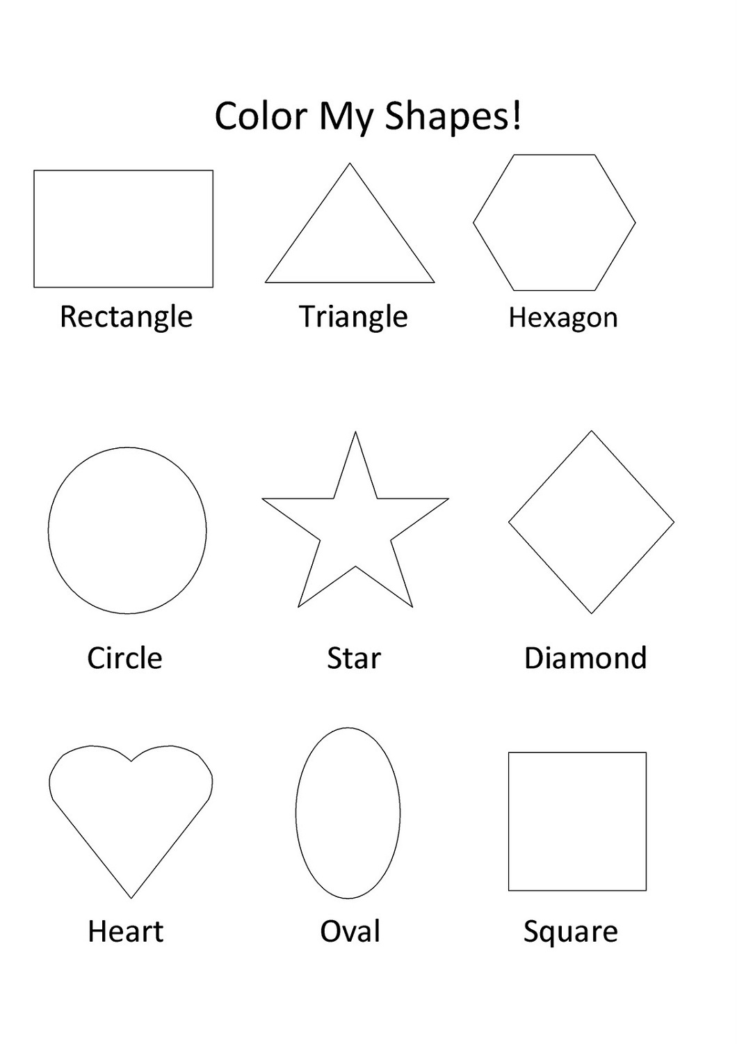 Identifying Shapes Worksheet Preschool