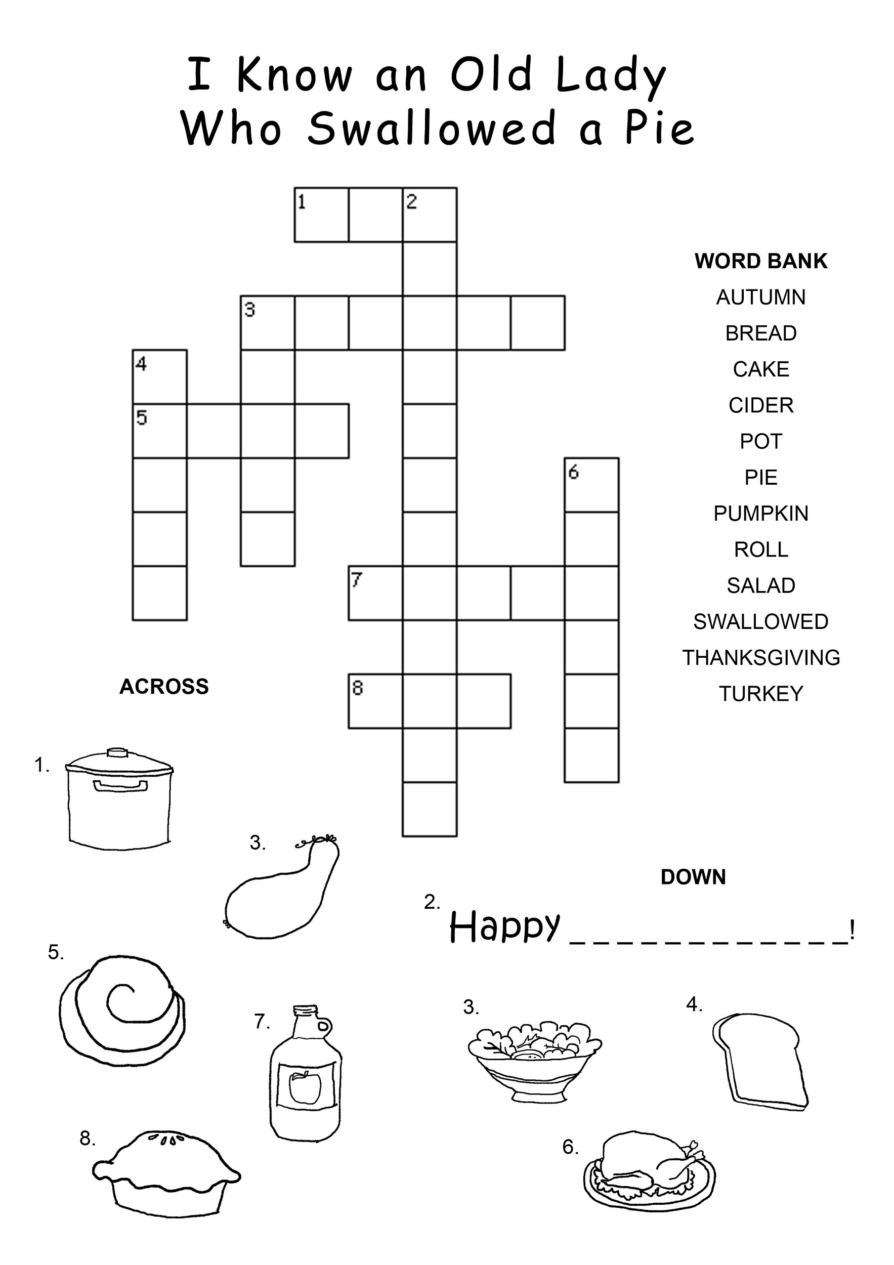 Crossword Puzzle Kids