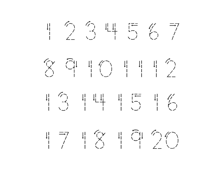 Traceable Number Worksheets