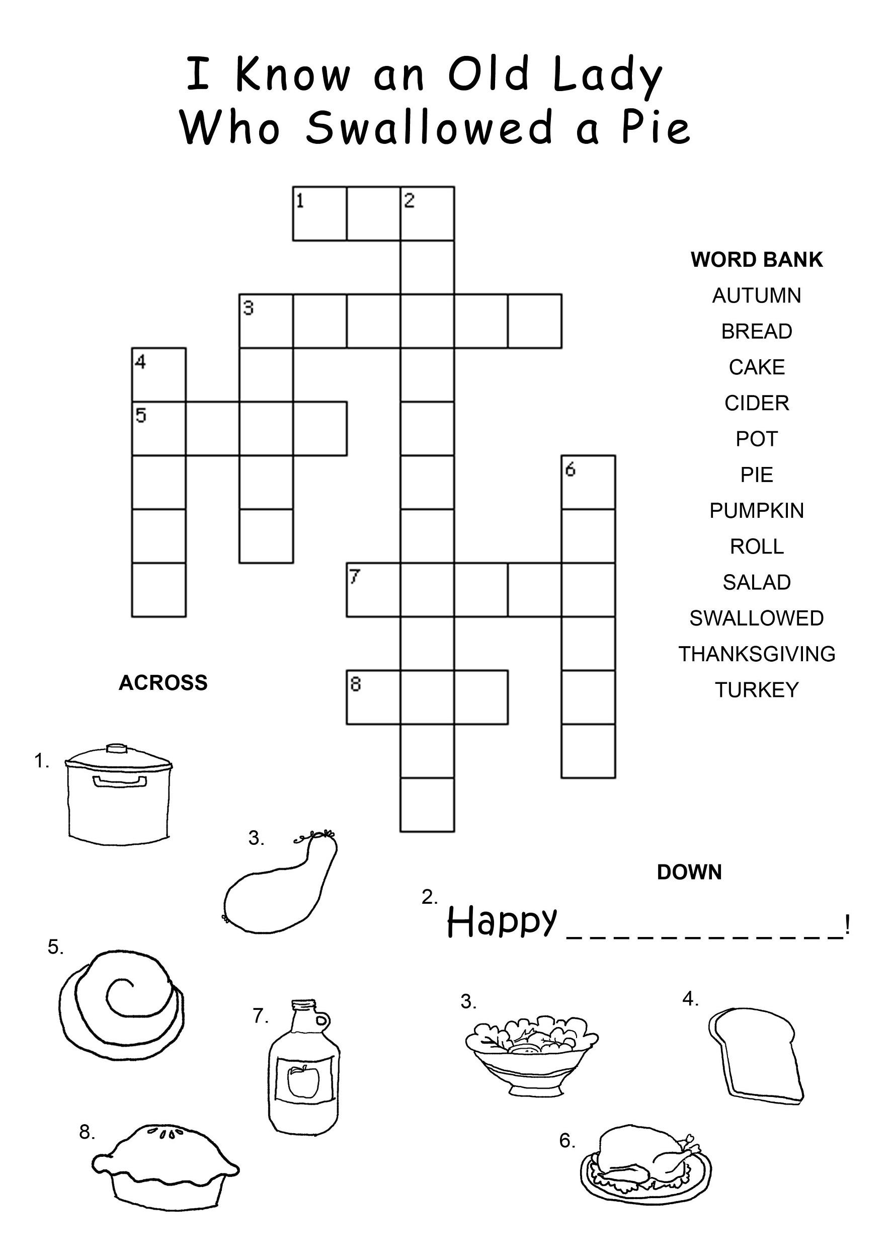 Children S Crossword Puzzles