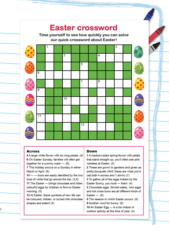 Kids Crossword Puzzles To Print