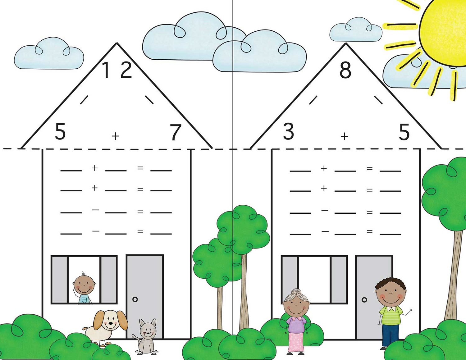 Fact Family Numbers Worksheets