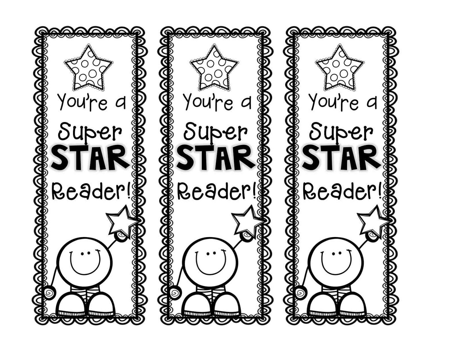 Free Printable Reading Bookmarks Black And White