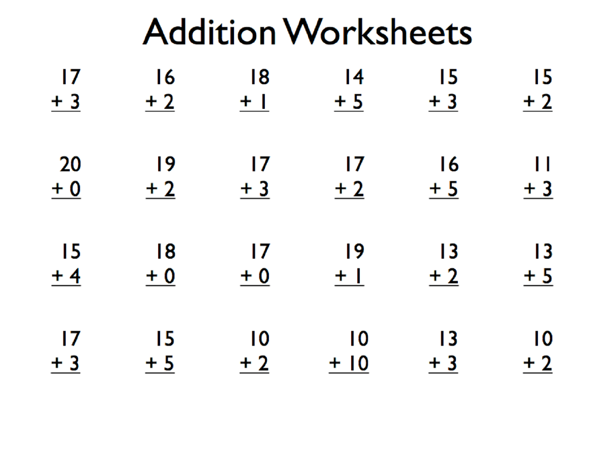 Printable Grade 1 Math Worksheets