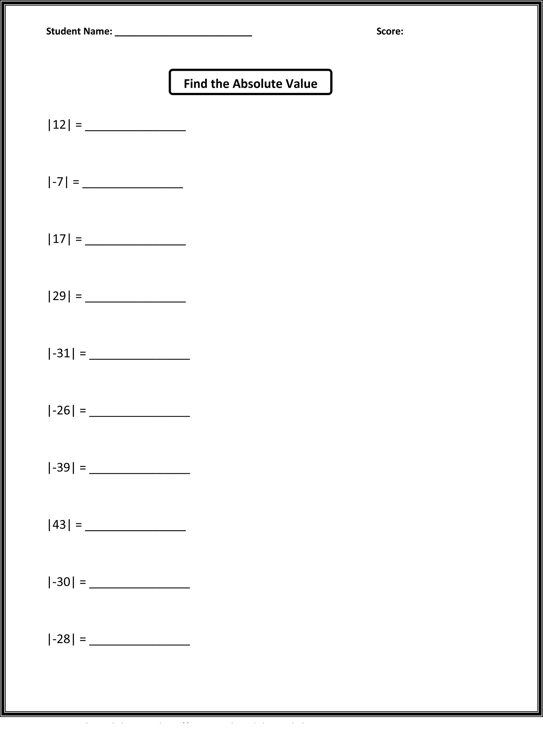 Fun Activity For Grade 6 Math Worksheet