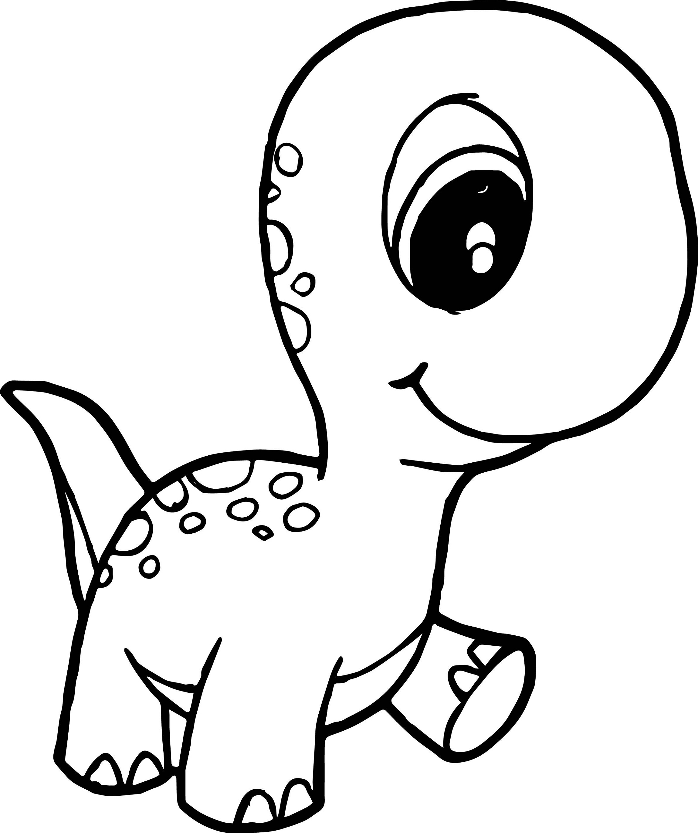 Baby Dinosaur Coloring Pages For Preschoolers Activity Shelter
