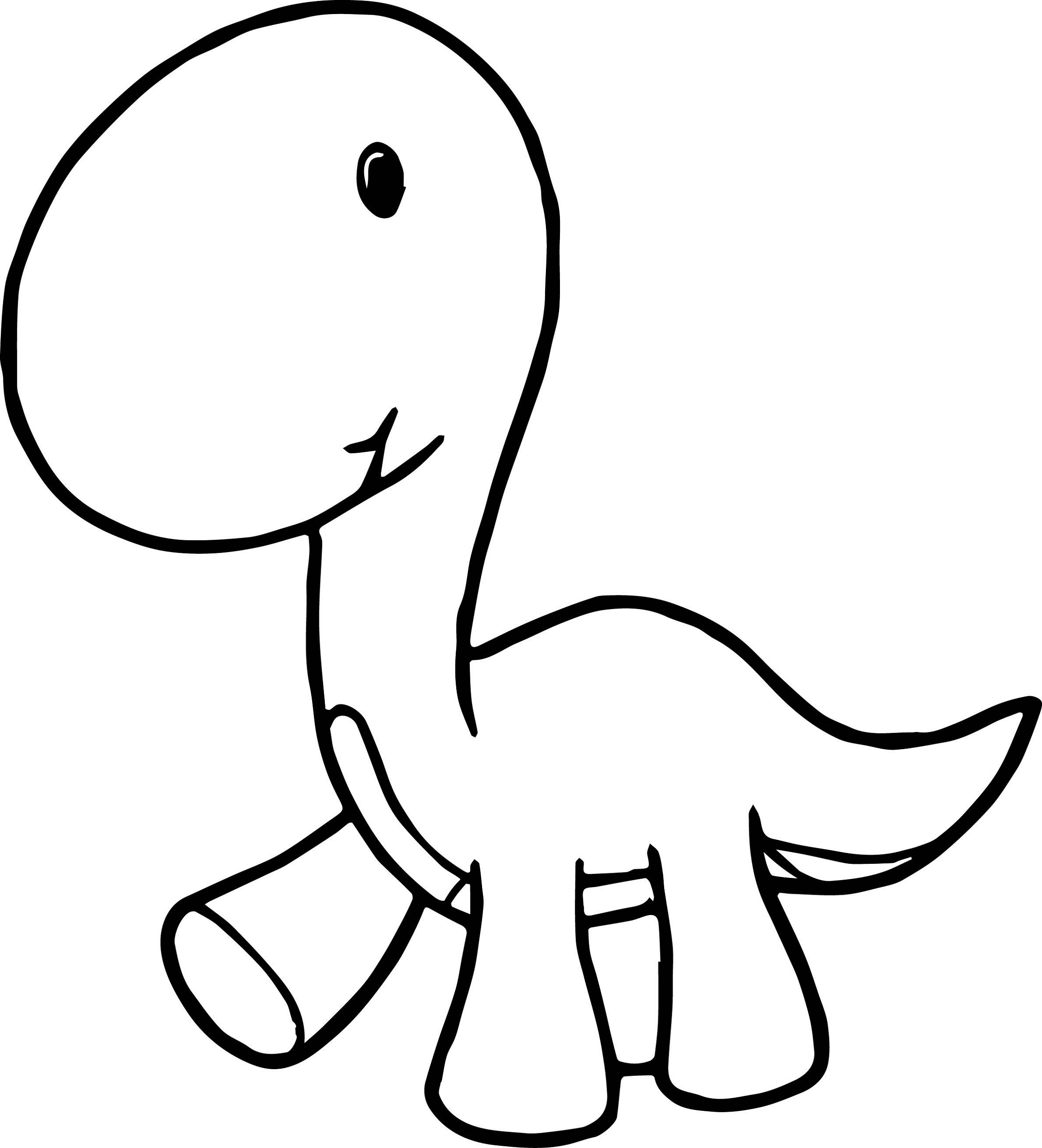 Baby Dinosaur Coloring Pages For Preschoolers