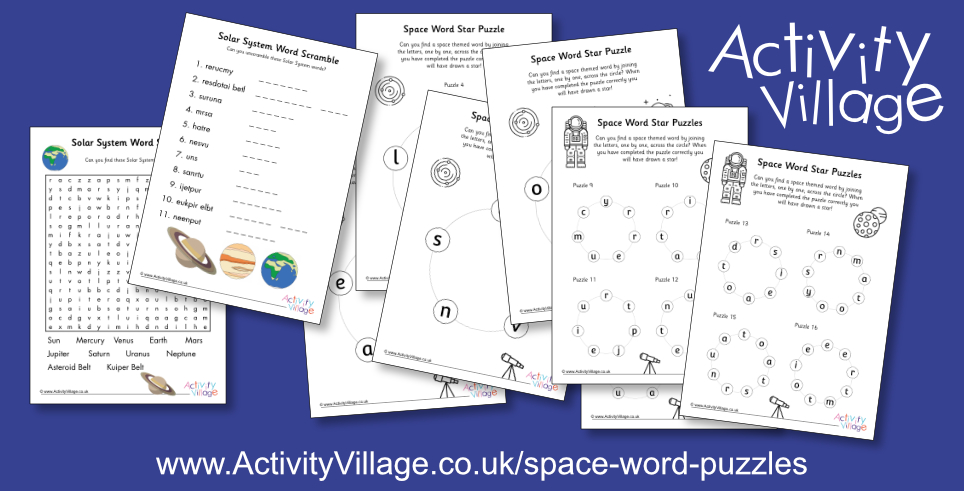Fun New Word Puzzles with a Space Theme