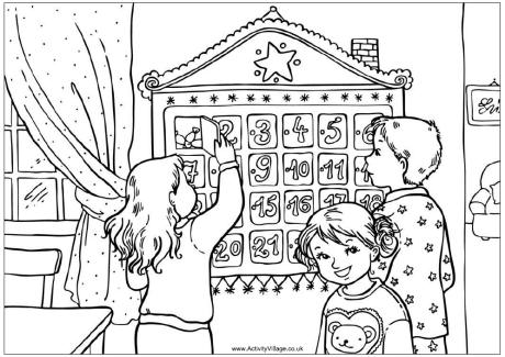 Advent Colouring Pages