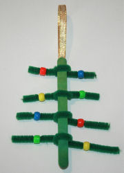 Beaded Christmas tree decoration