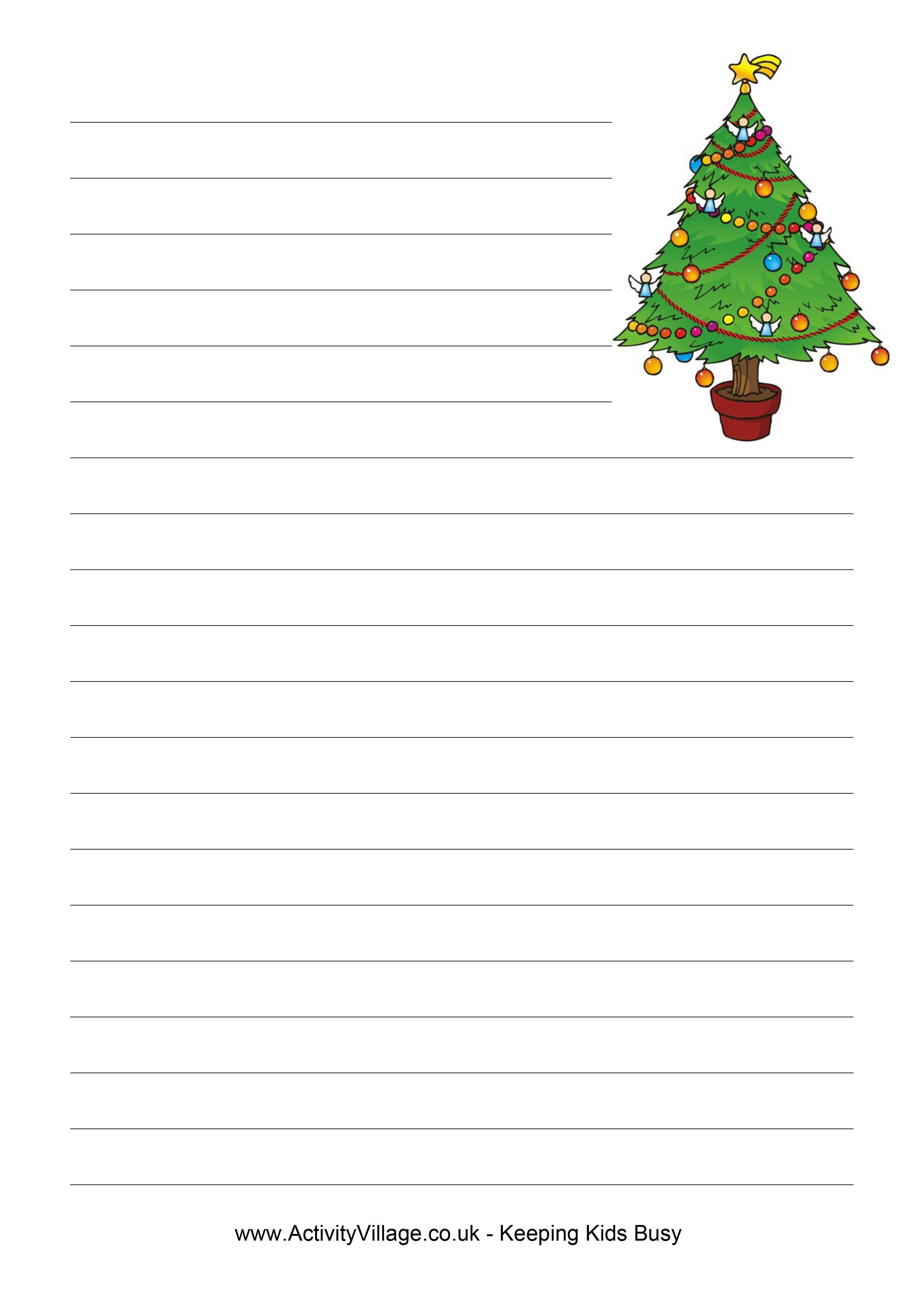 Beginning Writer Lined Paper