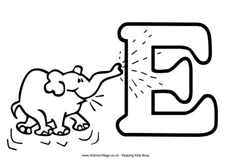 e coloring pages # 11