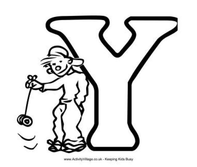 Colouring Alphabet Y