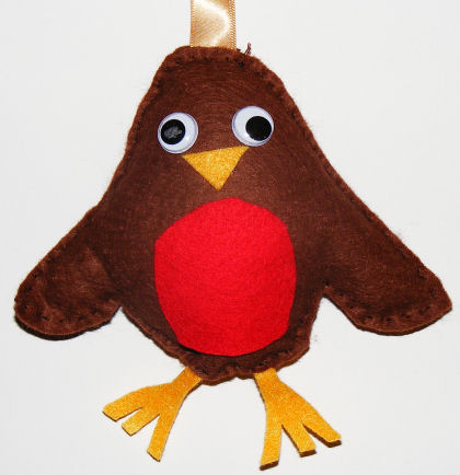 Felt Robin Softie Christmas Craft For Kids