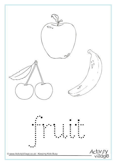 Vegetable Fruit Letters And