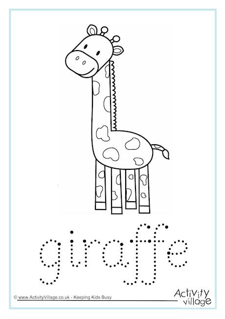 Giraffe Word Tracing