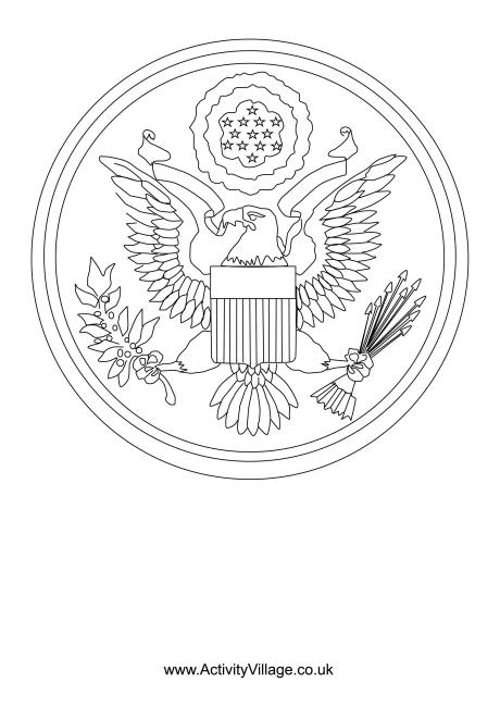 Great Seal Of The US Colouring Page