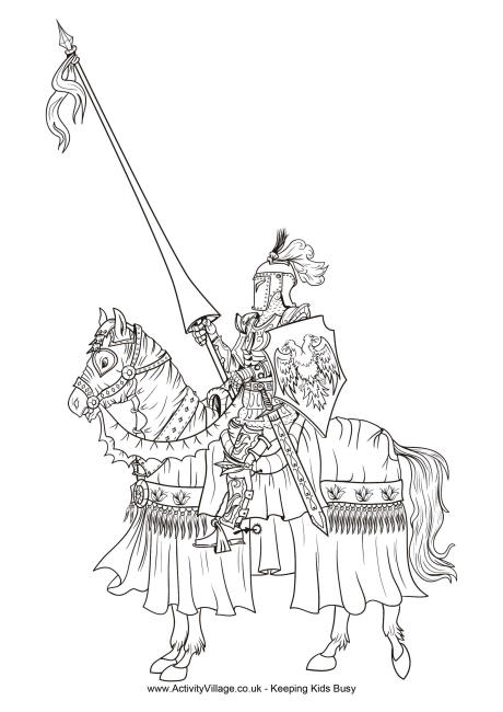 knights coloring pages # 7