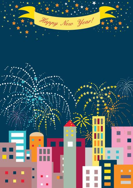 New Year Scrapbook Paper Night Sky