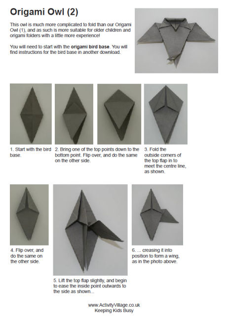 Harry Potter Origami Owl Instructions Origami Tutorial Lets Make It