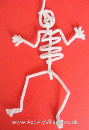 Pipe cleaner skeleton