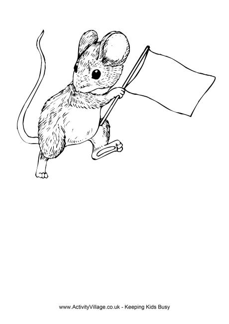 rat  flag colouring page