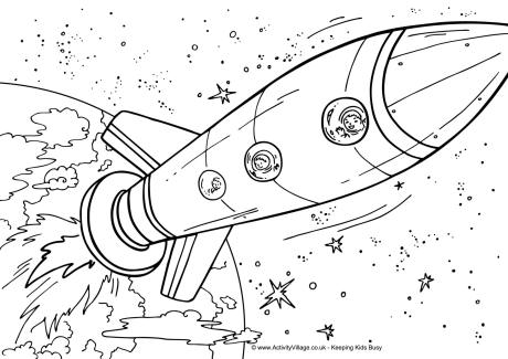 space coloring page # 25