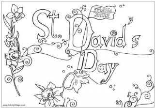 St David's Day Colouring Pages
