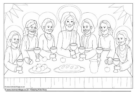 the last supper coloring page # 18