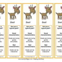 2015 Year of the Goat bookmarks from Activity Village