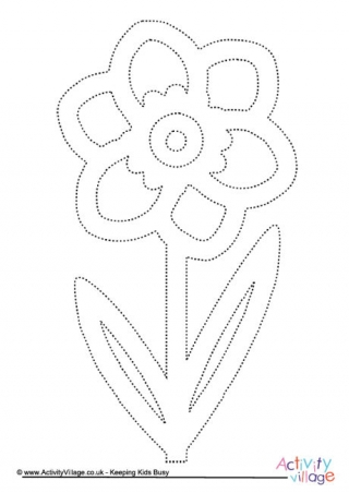 Flower Tracing Pages