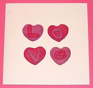 Fimo Hearts Card