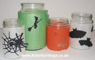 Halloween Candle Jars