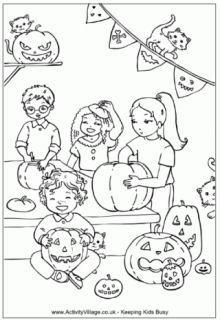 halloween printables activity village
