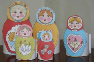 Printable Russian Dolls