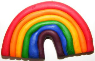 Rainbow Fridge Magnet (Or Brooch)