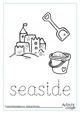 Seaside Finger Tracing