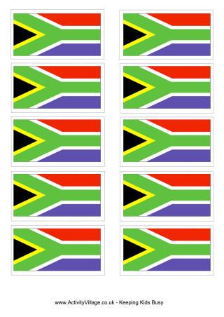 South Africa Flag Colouring Page