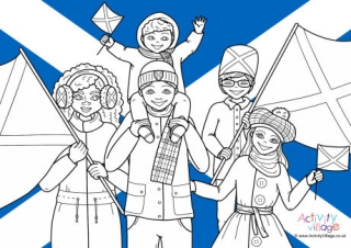 St Andrew's Day Colouring Pages