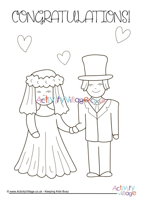 bride and groom coloring pages # 49
